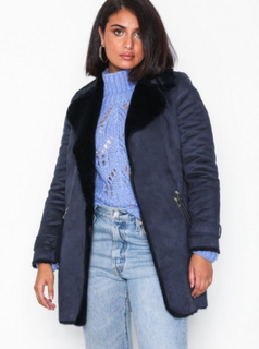 River Island Fur Bonded LL Jacket