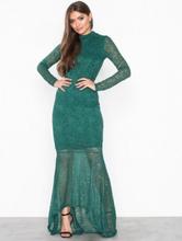 Vila Virigmor L/S Maxi Dress Mørk grønn