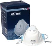 Ox-On støvmasker FFP2 NR D med ventil, 10 stk