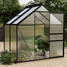 Drivhus aluminium 2,47 m² - antrasitt