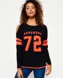 Superdry Varsity ärmlös stickad tröja
