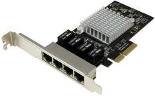 Gigabit Ethernet Nätverkskort med 4 portar - PCI Express, Intel I350 NIC
