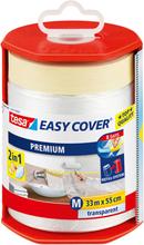 Tesa Easy Cover 4368 Skyddsfolie med maskeringstejp 33 m x 550 mm, dispenser