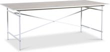 Crystal matbord 200 cm (Fishbone) - Vit / Whitewash