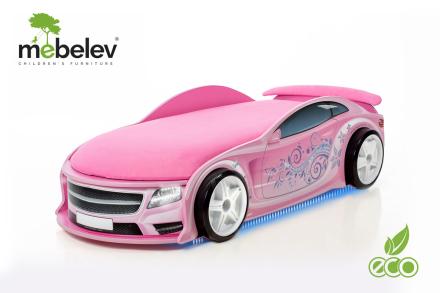 UNO Pink racerbilseng inkludert madrass! NYHET