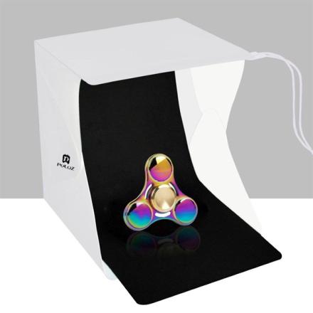 Fotostudio mini med LED-paneler - 2 bakgrunner