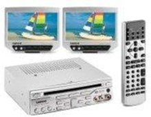 MES-208 - two LCD monitors / DVD player - display 7 in - To LCD-skjermer Two LCD displays