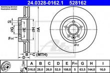 Bremseskive ATE 24.0328-0162.1