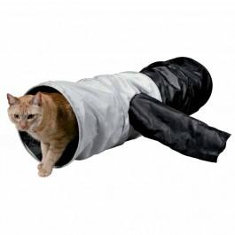 Kattetunnel i nylon med 4 udgange 115 cm