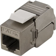 DELTACO FTP Cat6a Keystone kontaktdon, Tool-free