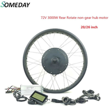 SOMEDAY Electric Bicycle 72V 3000W Rear Rotate non-gear hub motor Conversion kits E-bike Wide tire in snow with KT LCD3 display