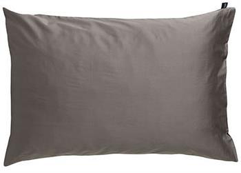 Pudebetræk - 100% Bomuldsatin - Mørk Grå - 70x100 cm