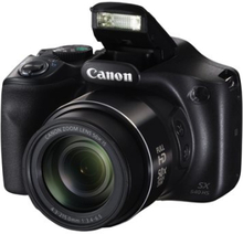 Canon PowerShot SX540 HS - Digitalkamera - kompakt - 20.3 MP - 1 080 p / 60 fps - 50x optisk zoom - Wi-Fi, NFC - svart