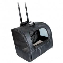 Trolley Elegance i sort til transport af katte