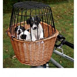 Cykelkurv med gitter i pileflet til kattetransport