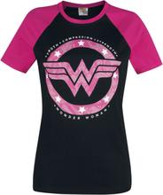 Wonder Woman - Star Circle -T-skjorte - svart, rosa