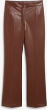 Faux leather trousers - Beige