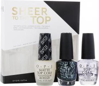 OPI Nail Polish Sheer To The Top Gift Set 15ml Top Coat + 15ml Matte Top Coat + 15ml So Elegant