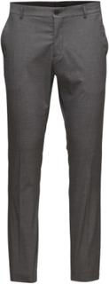 Slhslim-Mylologan Grey Trouser B Noos Habitbukser Stylede Bukser Grå Selected Homme