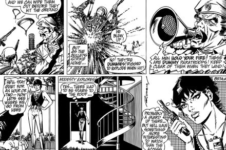 Modesty - Comic Strip 1 Tapetit / tapetti 100 x 100 cm