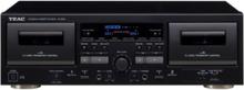 W-1200 - dual cassette deck - Dubbelt kassettdäck - Svart
