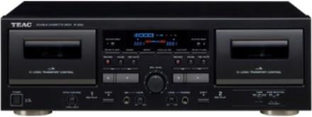 W-1200 - dual cassette deck - Dobbel kassettspiller - Svart