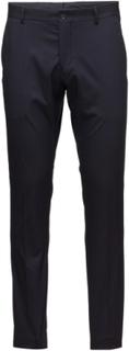 Slhslim-Mylologan Navy Trouser B Noos Habitbukser Stylede Bukser Sort Selected Homme
