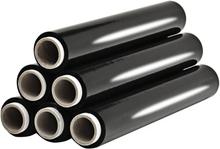 vidaXL Täckplast 6 st svart 17 µm 1,5 kg