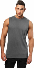 Better Bodies Bronx Tank, dark grey melange, medium Linne herr