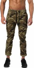 Better Bodies Harlem Cargo Pants, military camo, medium Träningsbyxor herr