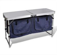 vidaXL Hopfällbart campingskåp i Aluminium