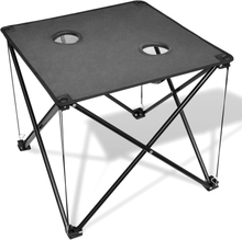 vidaXL Sammenfoldeligt campingbord, grå