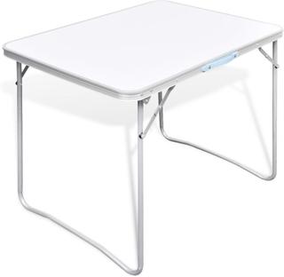 vidaXL Sammenfoldeligt campinbord med metalramme 80 x 60 cm