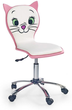 Karin barnstol - Vit/rosa