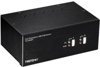 TRENDnet TK-240DP - KVM / lyd / USB-svitsj - 2 x KVM/lyd/USB - 1 lokalbruker - stasjonær