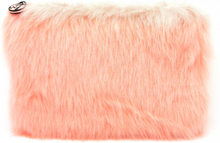 W7 Large Furry Cosmetic Bag Coral 1 stk