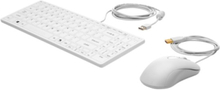 USB Keyboard and Mouse Healthcare Edition - Tastatur & Mussett - Hvit