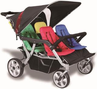 Babytrold Trille Quadro - Sportsvogn for inntil 4 barn