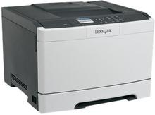 Lexmark CS410n - Skriver - farge - laser - A4/Legal - 1200 ppt - inntil 30 spm (mono) / inntil 30 spm (farge) - kapasitet: 250 ark - USB, LAN, USB-ve