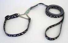 Koppel med halsband, Polyester, Tassar och Ben