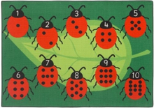 Mariehøne gulvtæppe til børn 133x95