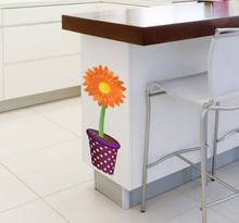 Decoratie Sticker Zonnebloem in Pot