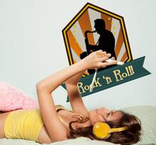 Sticker decoratie rock and roll