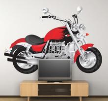 Rotes Motorrad Aufkleber