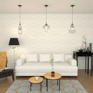 vidaXL vægpanel 12 stk. 3D 0,8 x 0,625 m 6 m²