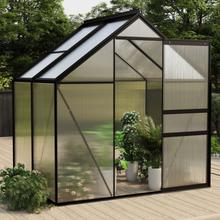 vidaXL drivhus 2,47 m² aluminium antracitgrå