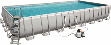 Ovanmarkpool 9,6 x 4,9m | Bestway Power Steel Rectangular pool (56623)