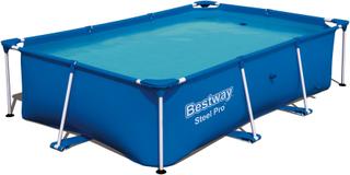 Rektangulär ovanmarkspool 259 x 170cm - Bestway Steel Pro (56403)
