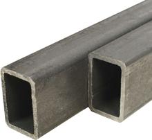 vidaXL Fyrkantsrör konstruktionsstål 6 st 1m 40x20mm