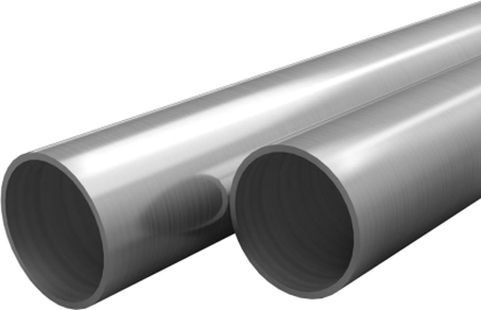 vidaXL Rör i rostfritt stål 2 st rund V2A 1m 25mm